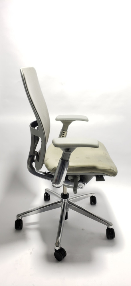 Haworth Zody Chair Gray Mesh Back In Polished Base