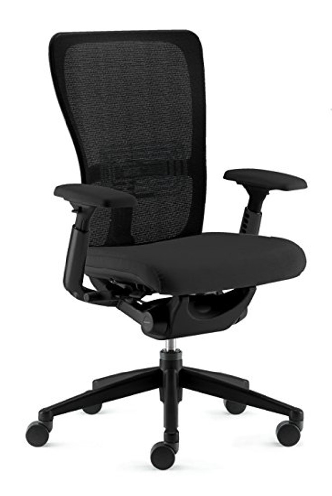 Haworth Zody Chair Mesh Back Fully Adjustable Model Black Leather