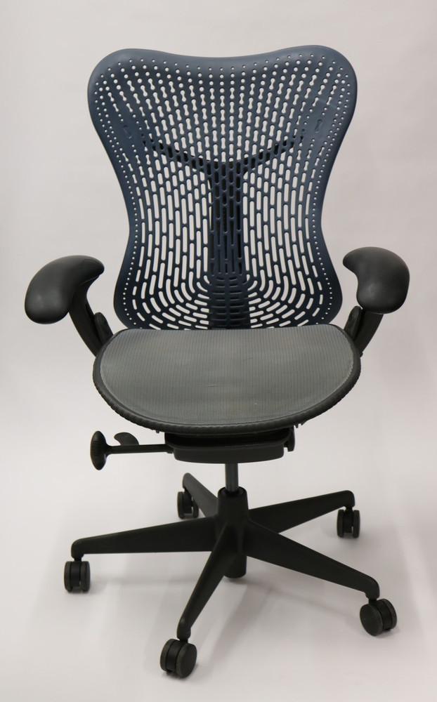 Herman Miller Mirra Chair Semi Loaded Navy Flex Back