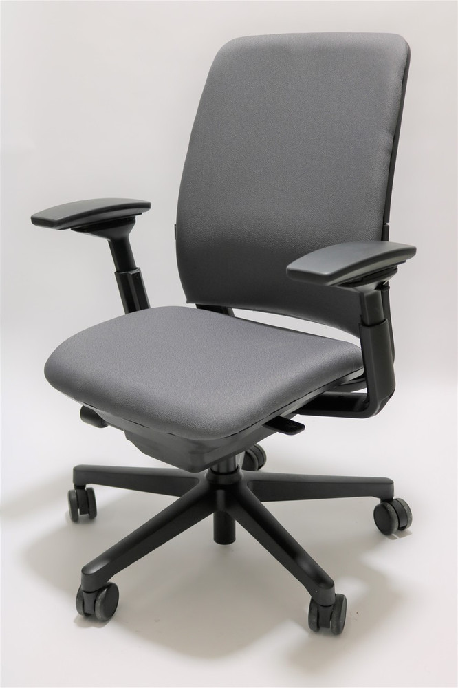 Amia Chair by Steelcase Fully Adjustable Model Gray Fabric