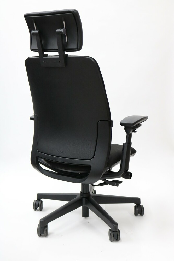 Steelcase Amia Chair With Headrest Fully Adjustable Model Black Fabric