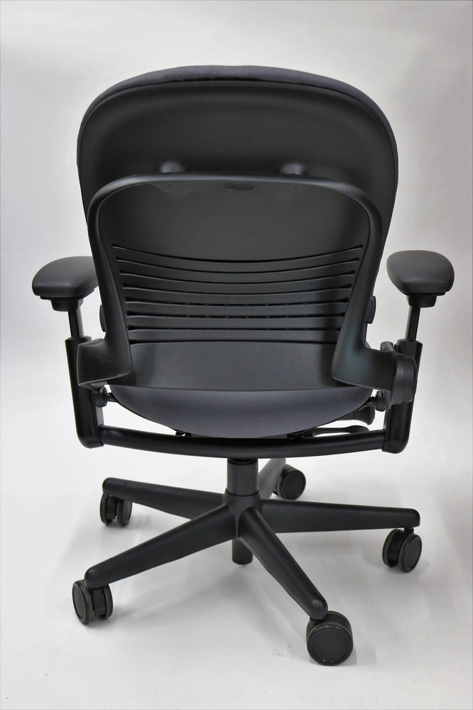 Leap Chair By Steelcase In Gray Fabric + Pivot Arms