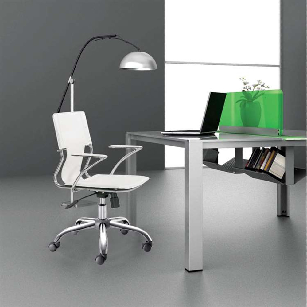 Elegant Office Chair, White by Fine Mod