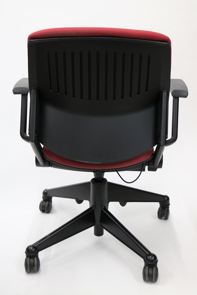 Kart Chair By Steelcase Red Fabric + Nest Seat