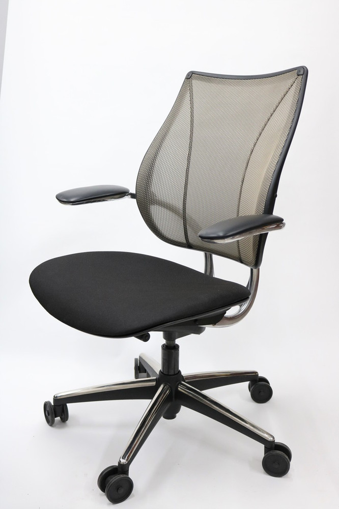 Humanscale Liberty Chair Polished Frame Black Seat