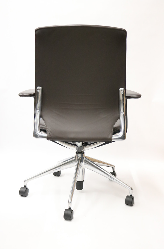 Meda Chair By Vitra Brown Leather Great for Conference room