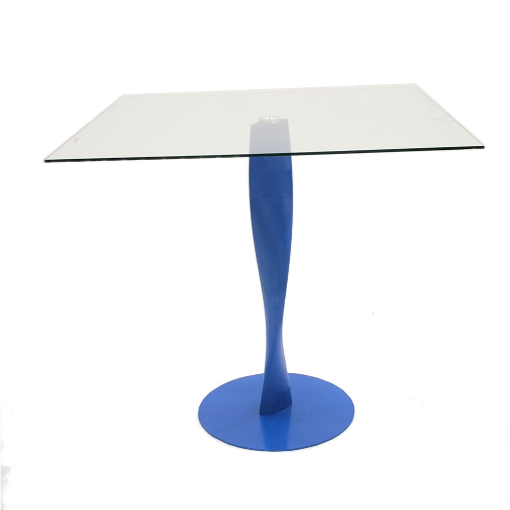 Edge Square Glass Dining Table by ModernPeek