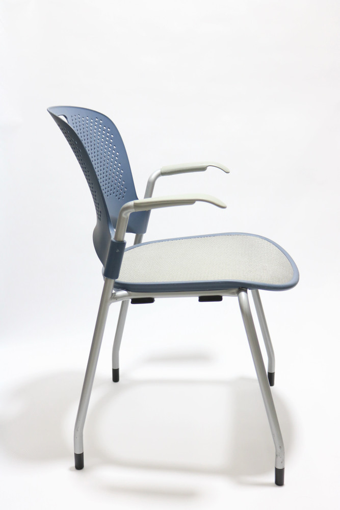 Herman Miller Caper Side Chair Navy and Mesh Seat