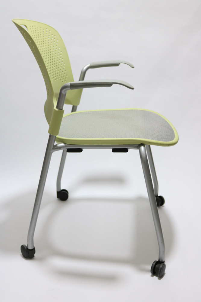 Herman Miller Caper Chair in Lime and Mesh Seat