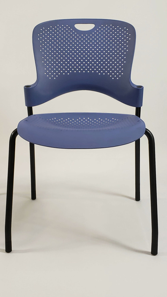 Refurbished Herman Miller Caper Side Chair in Blue