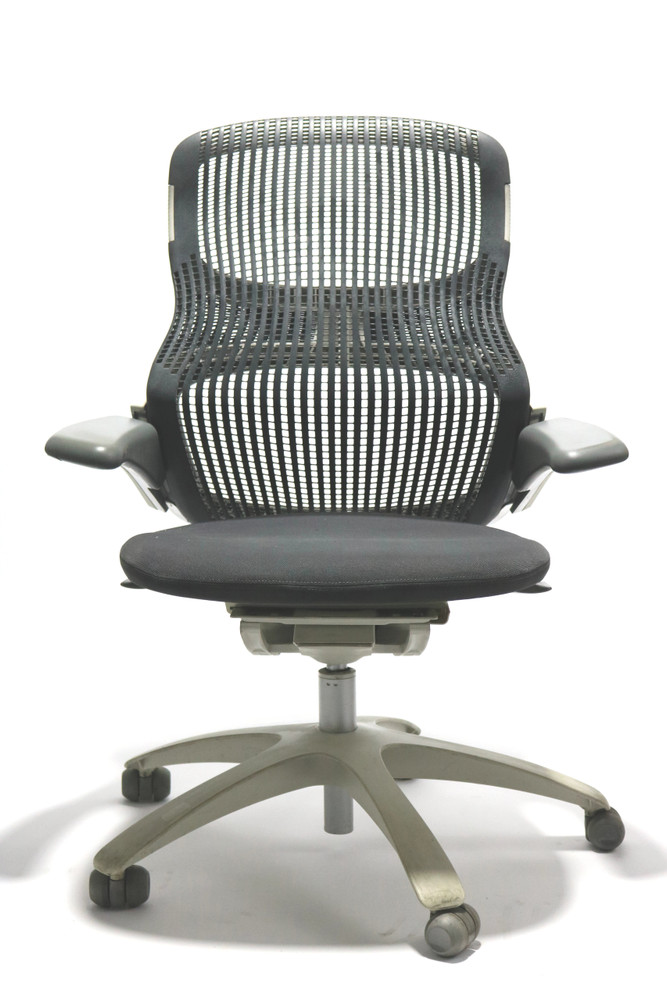 Knoll Generation Chair Black and White Frame