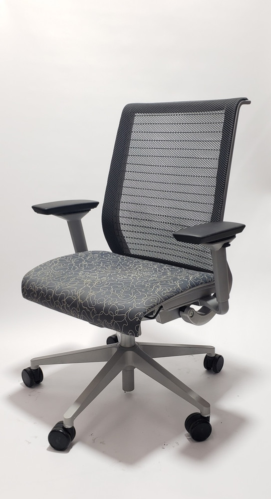 Steelcase Think Chair Dark Gray 3D Mesh and Pattern Seat