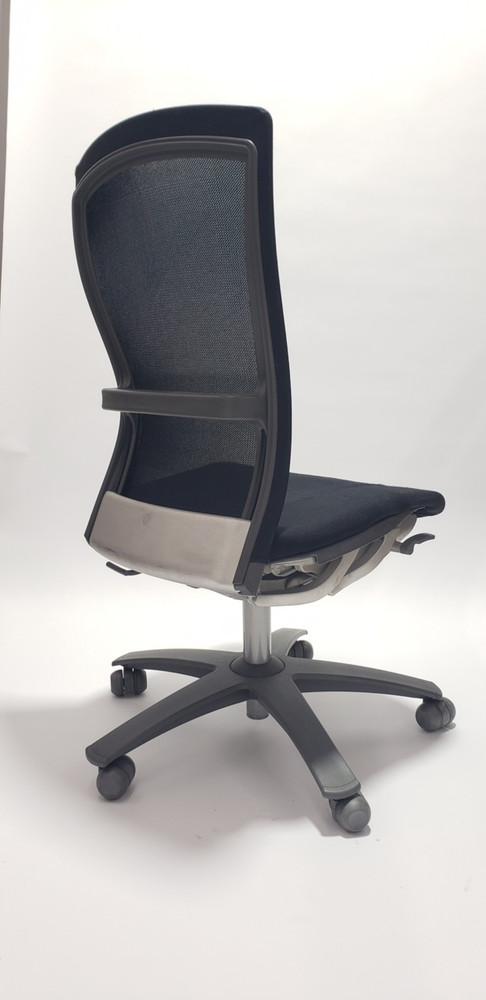 Life Chair By Knoll Black Mesh Back and Black Fabric Seat No Arms