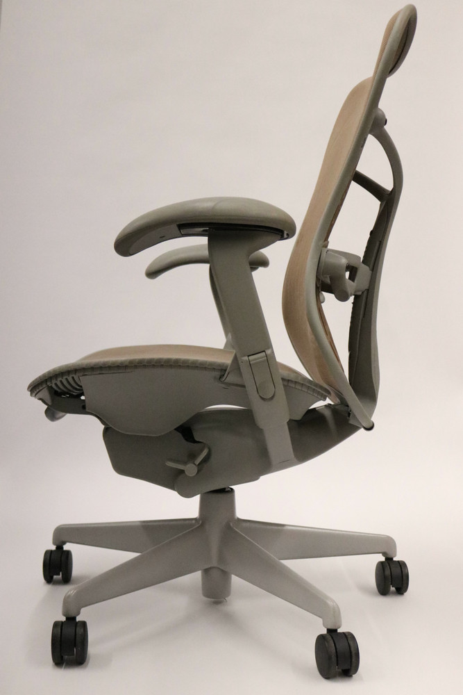 Herman Miller Mirra Chair Brown Mesh Back and Gray Seat and Frame