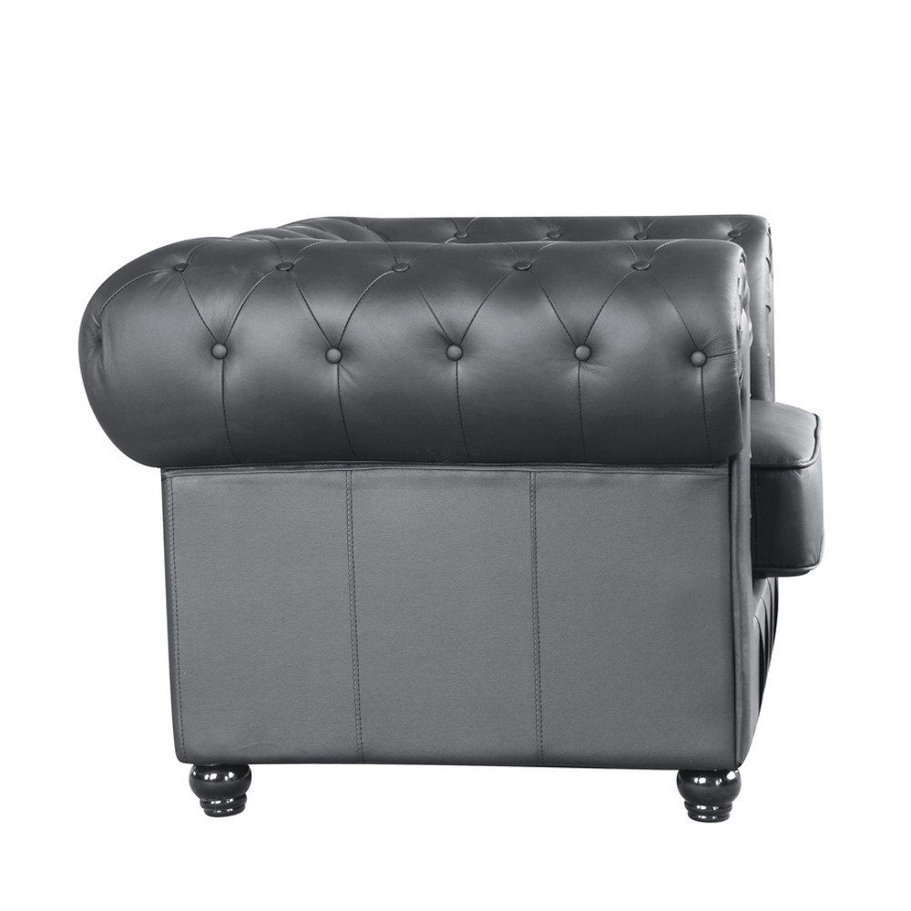 Chestfield Aristocrat Chair Black Leather by Fine Mod