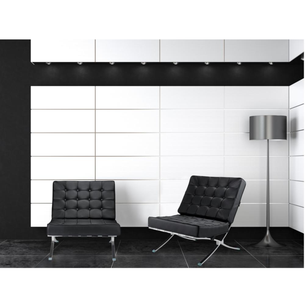 Pavilion Chair Black Leather by Fine Mod