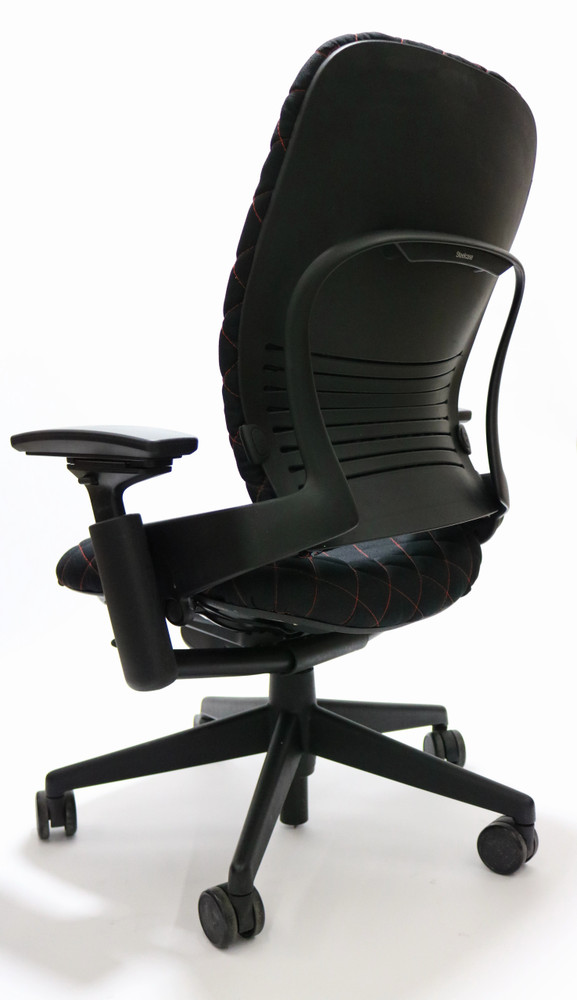 Steelcase Leap Chair V2 In Fabric Black Diamond Executive Model