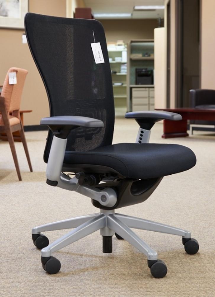 Haworth Zody Chair Platinum Frame and Black Mesh