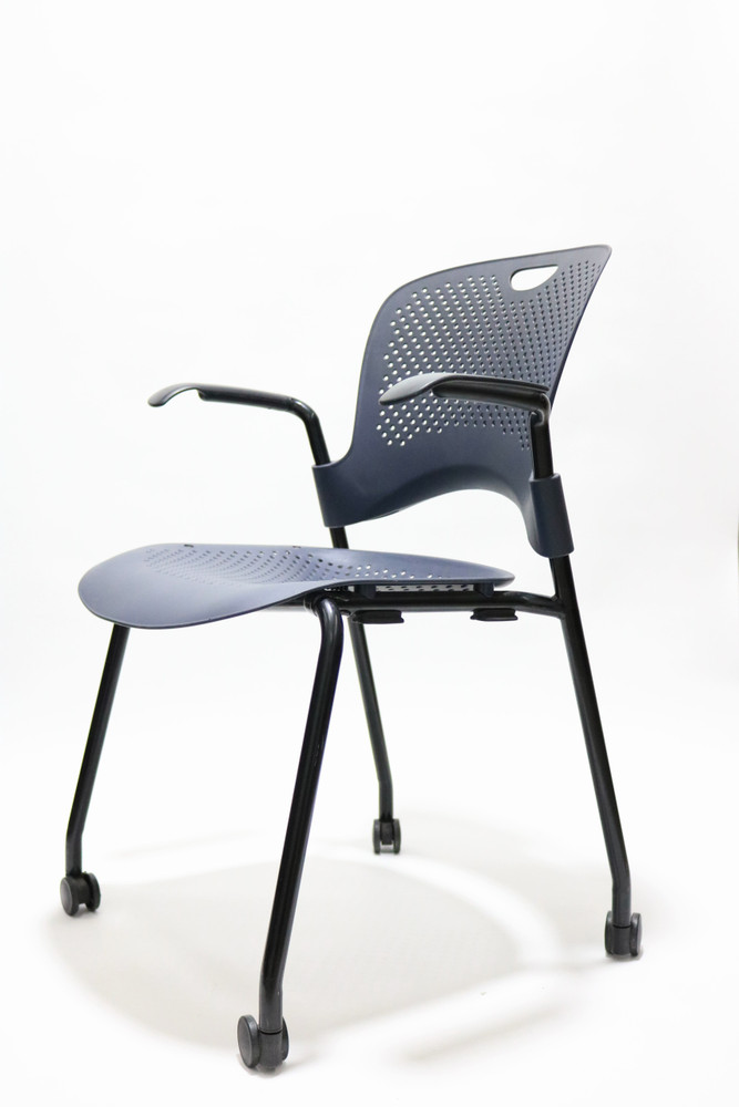 Herman Miller Caper Chair Navy Molded Seat