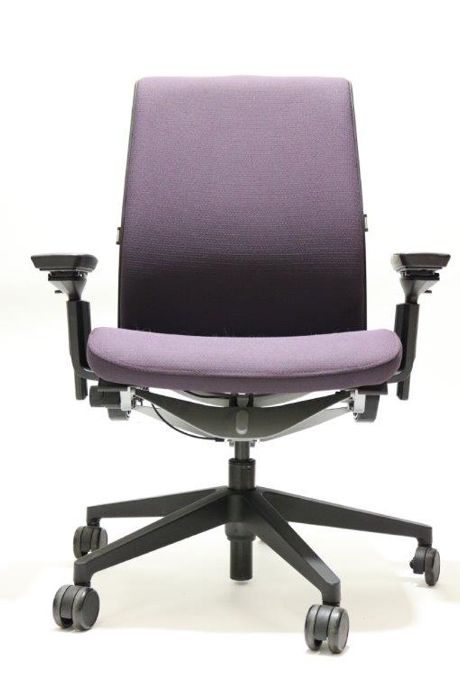 Steelcase Think Chair V2 Dark Purple 3D Mesh Model 4 Way Arms and Lumbar