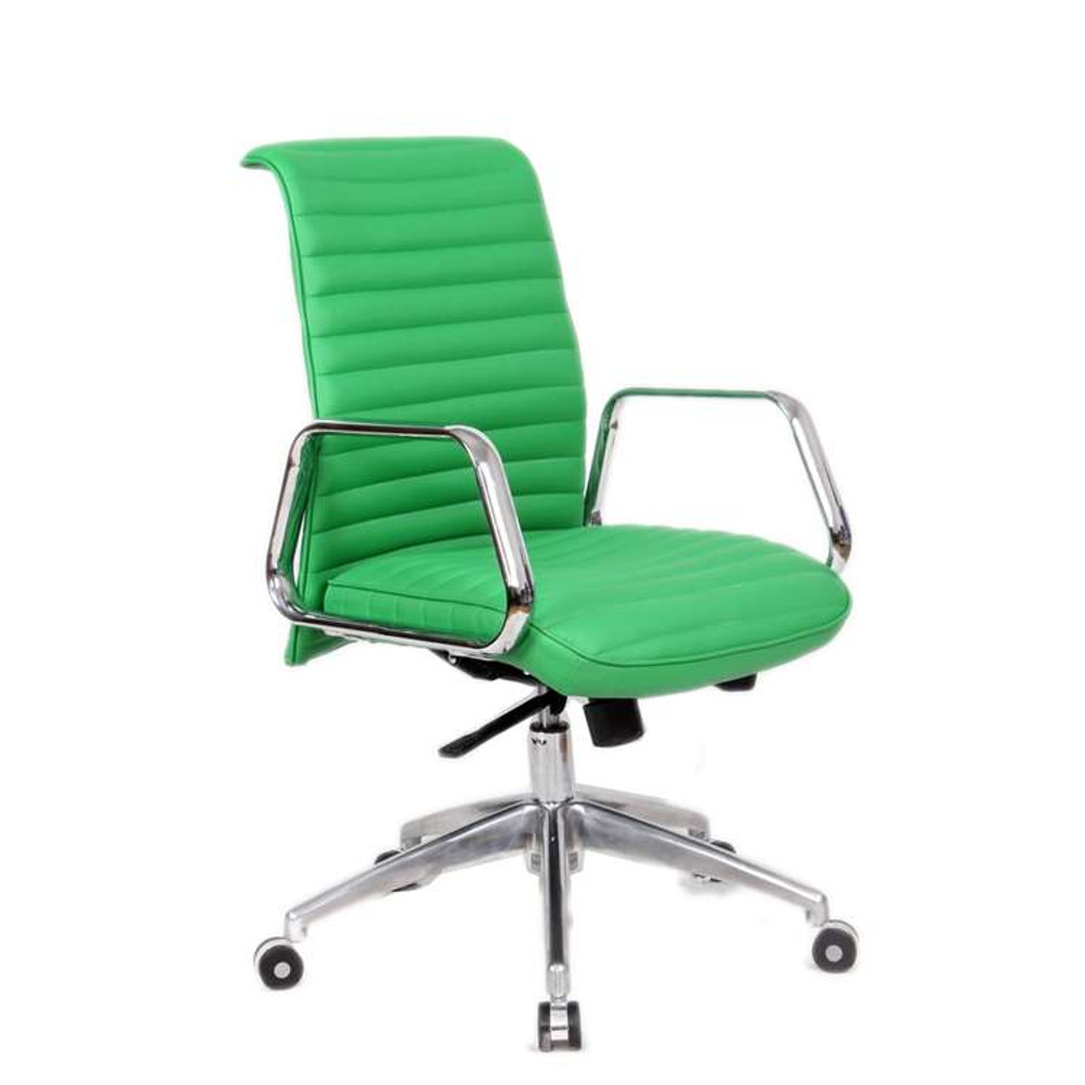 Ox Office Chair Mid Back, Green By Fine Mod