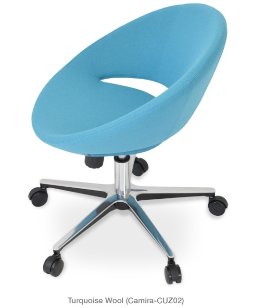 Soho Concept Crescent Office Chair in Camira Wool