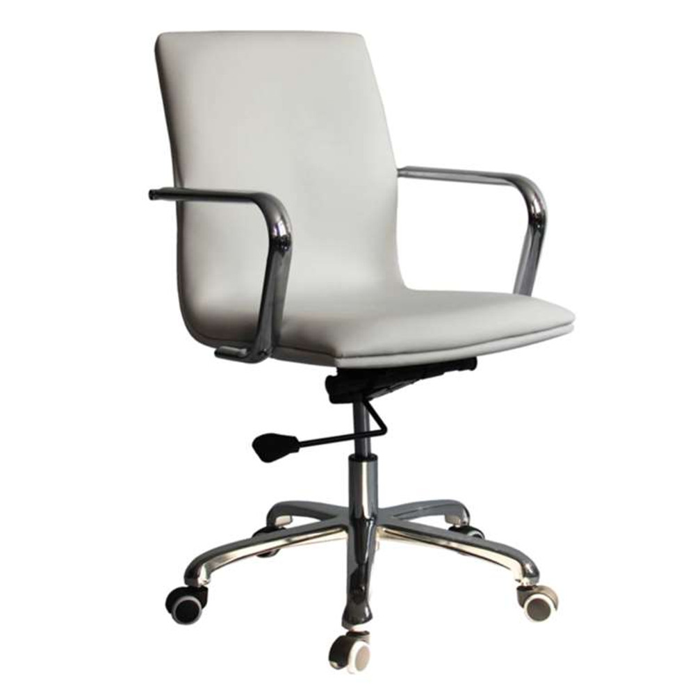 Confreto Conference Office Chair Mid Back, White by Fine Mod