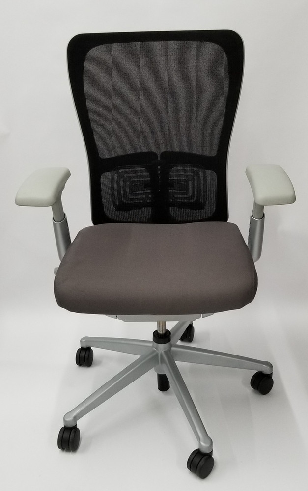 Haworth Zody Chair Mesh Back In Gray Fully Adjustable Model