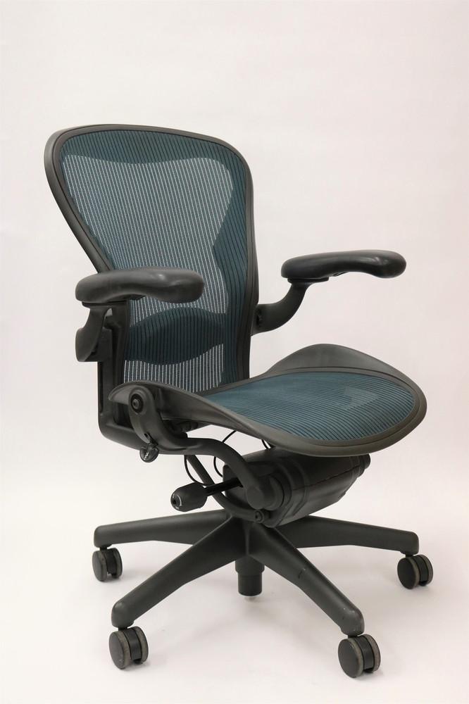 online retailer 47b7f e434c Herman Miller Aeron Chair Fully Featured Size B Jade Green