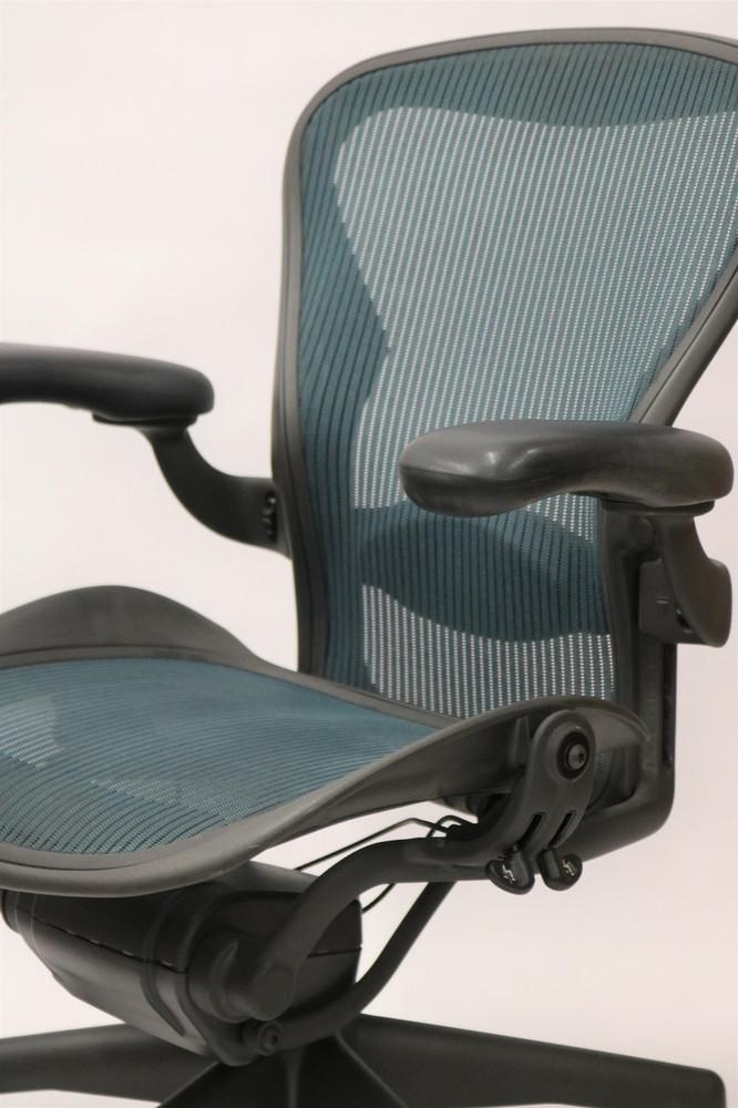 Herman Miller Aeron Chair Fully Featured Size B Jade Green