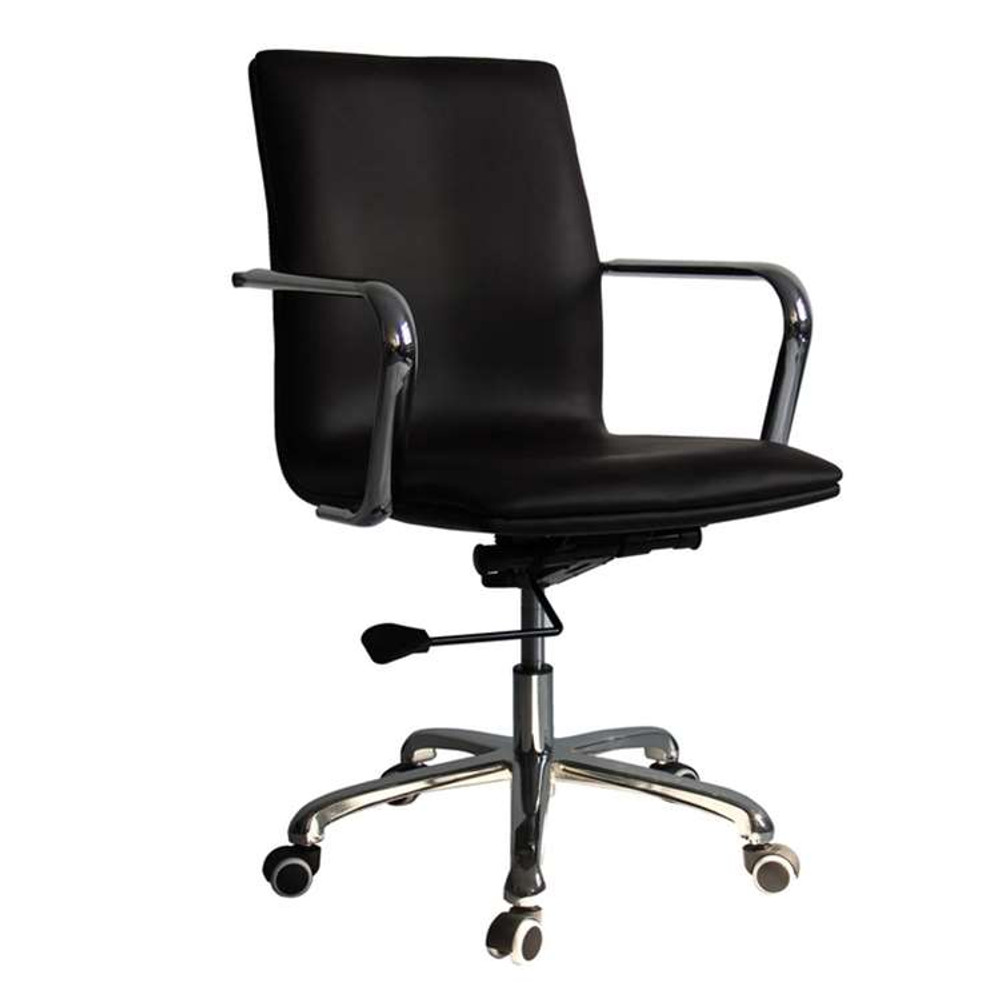 Confreto Conference Office Chair Mid Back, Dark Brown by Fine Mod