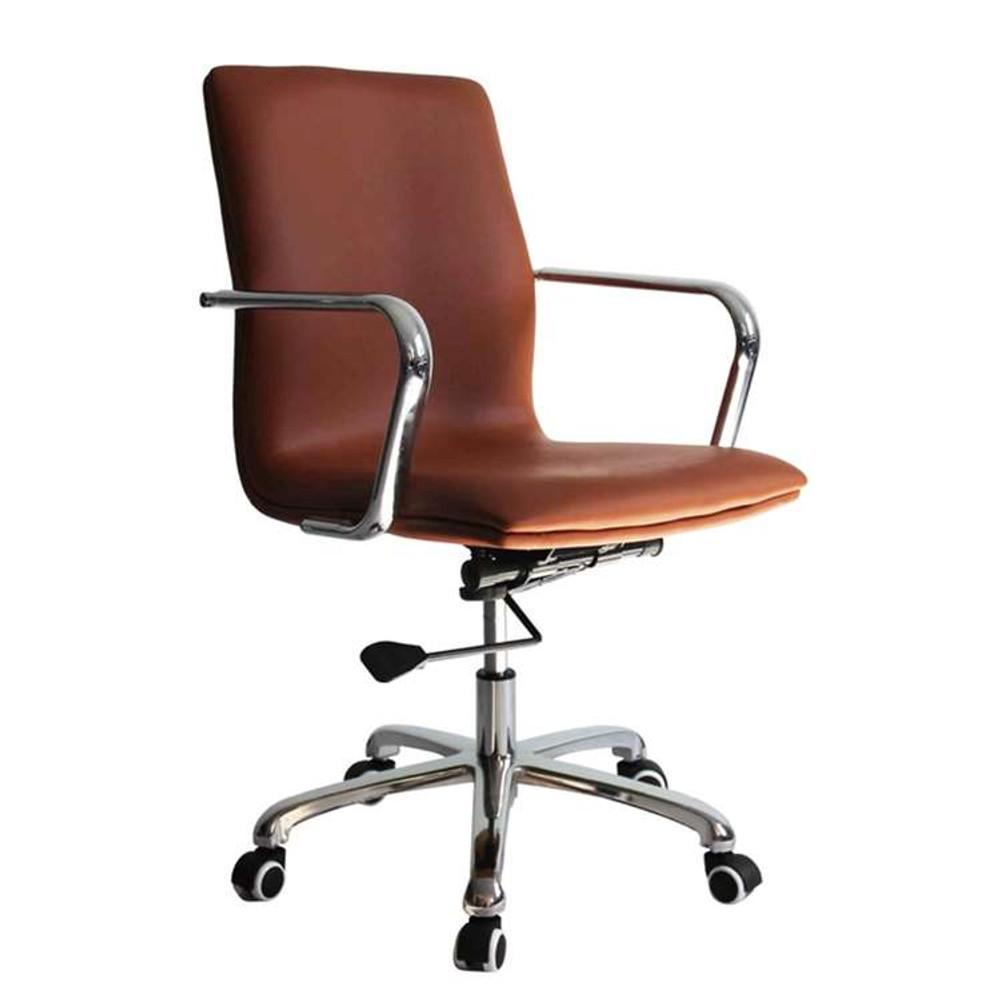 Confreto Conference Office Chair Mid Back, Light Brown by Fine Mod