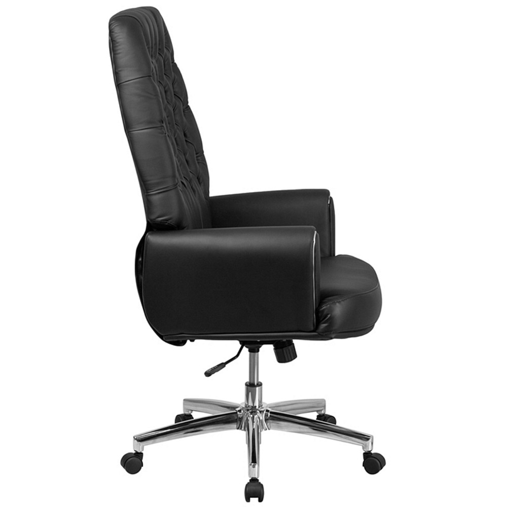 Incredible Flash Furniture High Back Traditional Tufted Black Leather Executive Swivel Chair With Arms Download Free Architecture Designs Osuribritishbridgeorg
