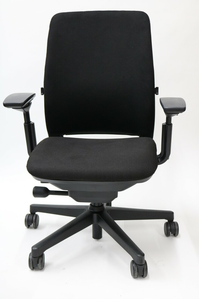 Refurbished Steelcase Amia Chair Fully Adjustable Model Black Fabric