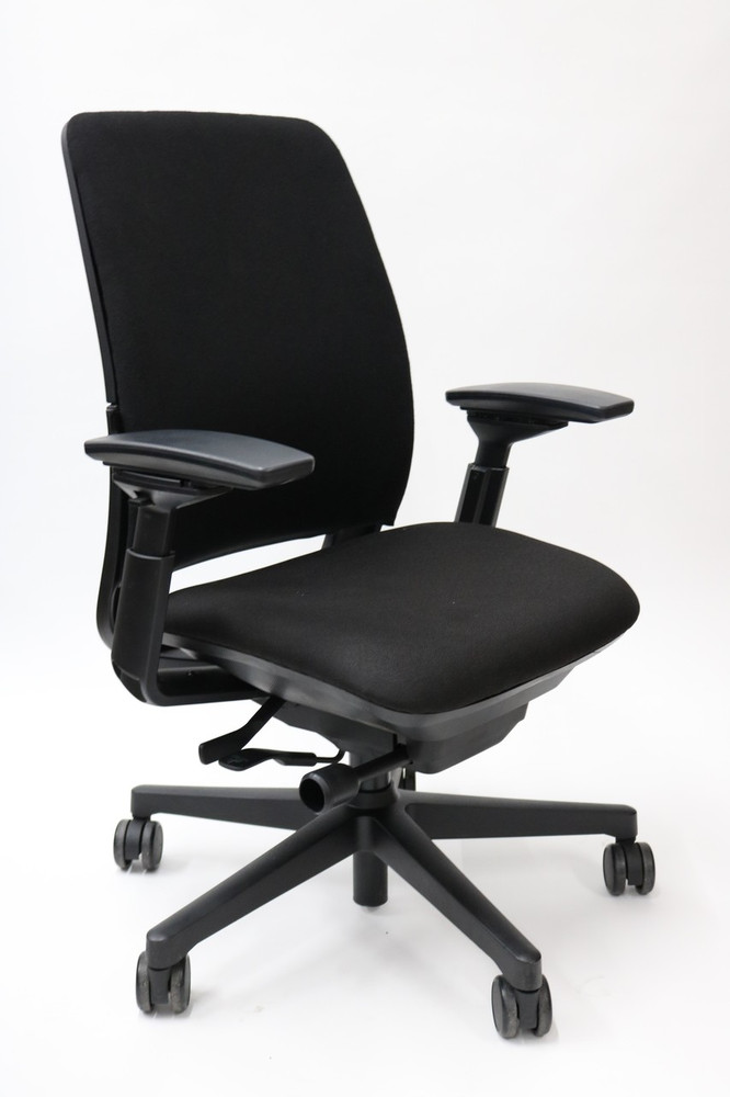Steelcase Amia Chair Fully Adjustable Model Black Fabric