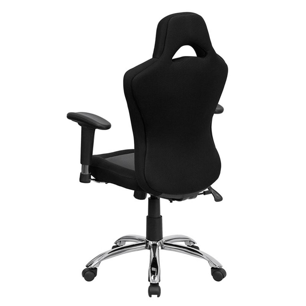 Flash Furniture Race Car Inspired Gray and Black Mesh Swivel Task Chair on xbox game chair, race car couch, race car barber chair, race car business card holder, race car high chair, race car rocking chair, black and white striped dining chair, race car tv, race car drafting chairs, race chair office chair, pitstop chair, race car computer chair, race car lounge chair, race car paper, race car office supplies, race car furniture, seat like chair, race car books, race car seats, racing chair,