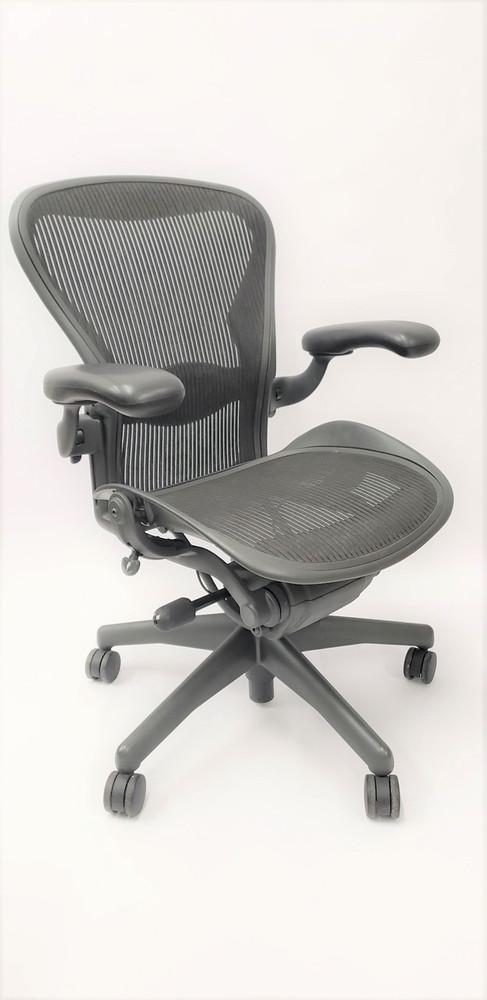 Herman Miller Aeron Chair Semi Loaded Size B (or C) Black