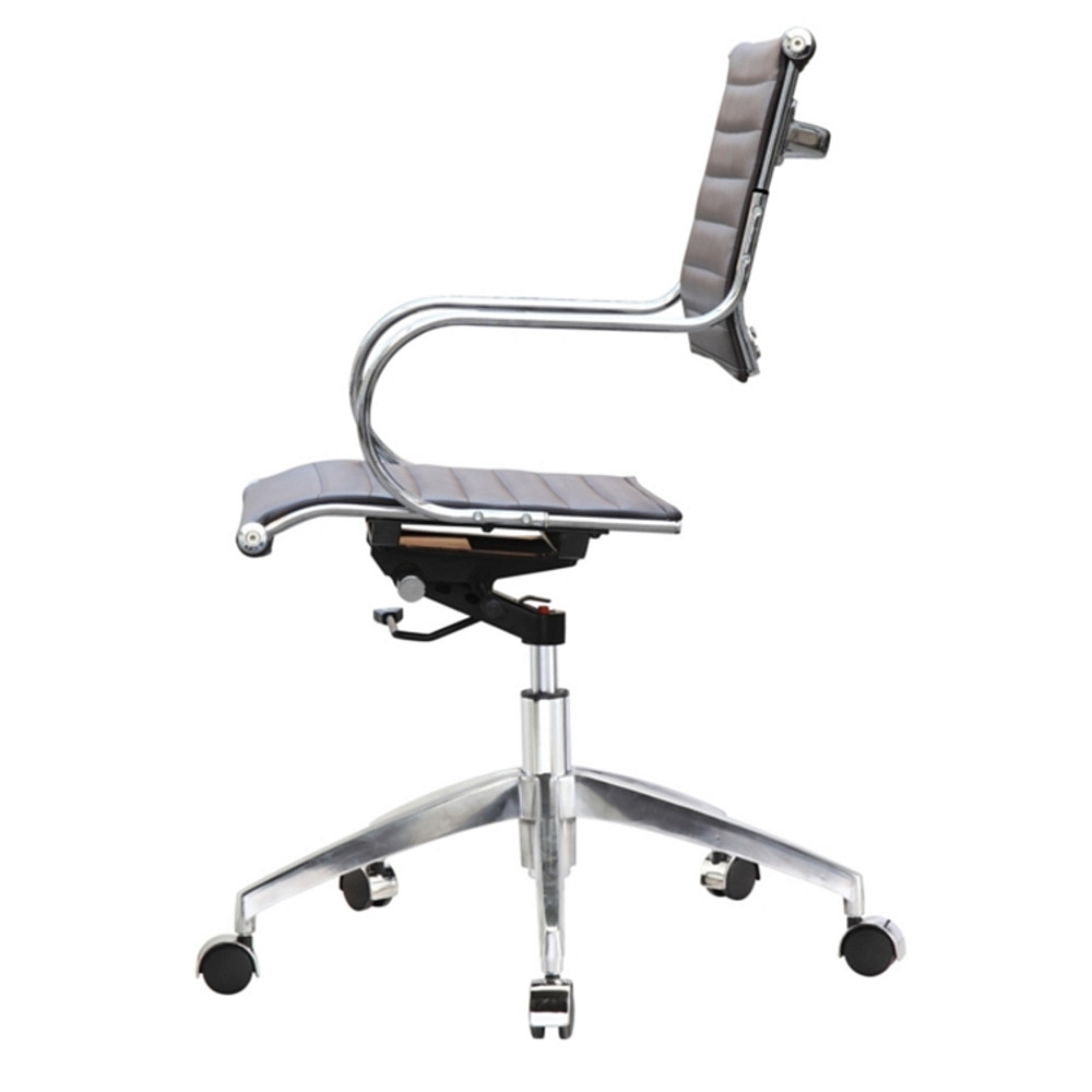 Flees Office Chair Mid Back, Dark Brown by Fine Mod