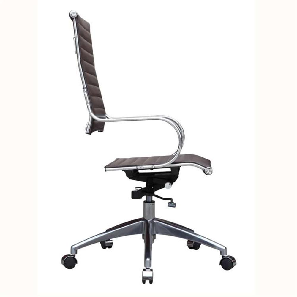 Flees Office Chair High Back, Dark Brown by Fine Mod