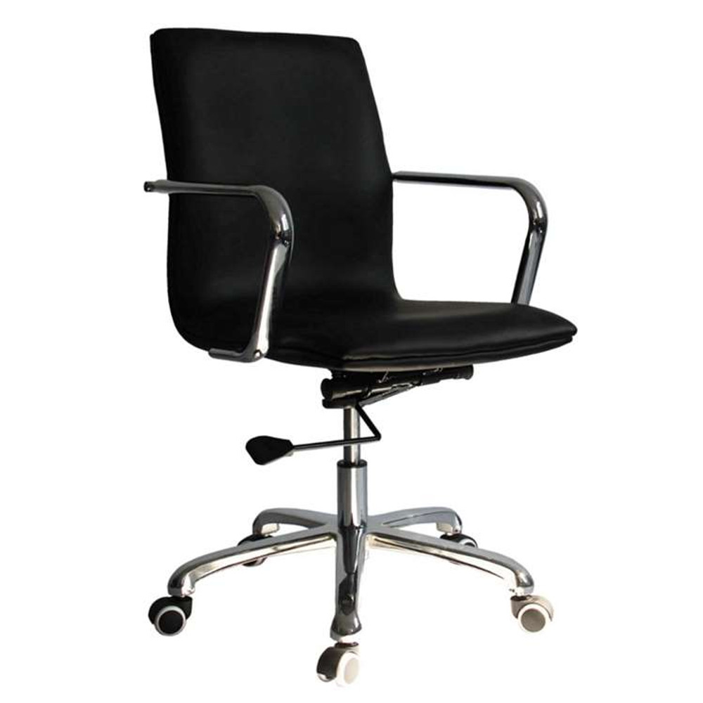 Confreto Conference Office Chair Mid Back, Black by Fine Mod