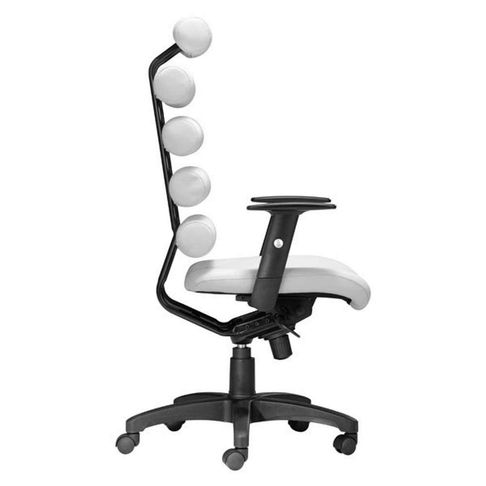 Awesome Zuo Modern Unico Office Chair White Caraccident5 Cool Chair Designs And Ideas Caraccident5Info