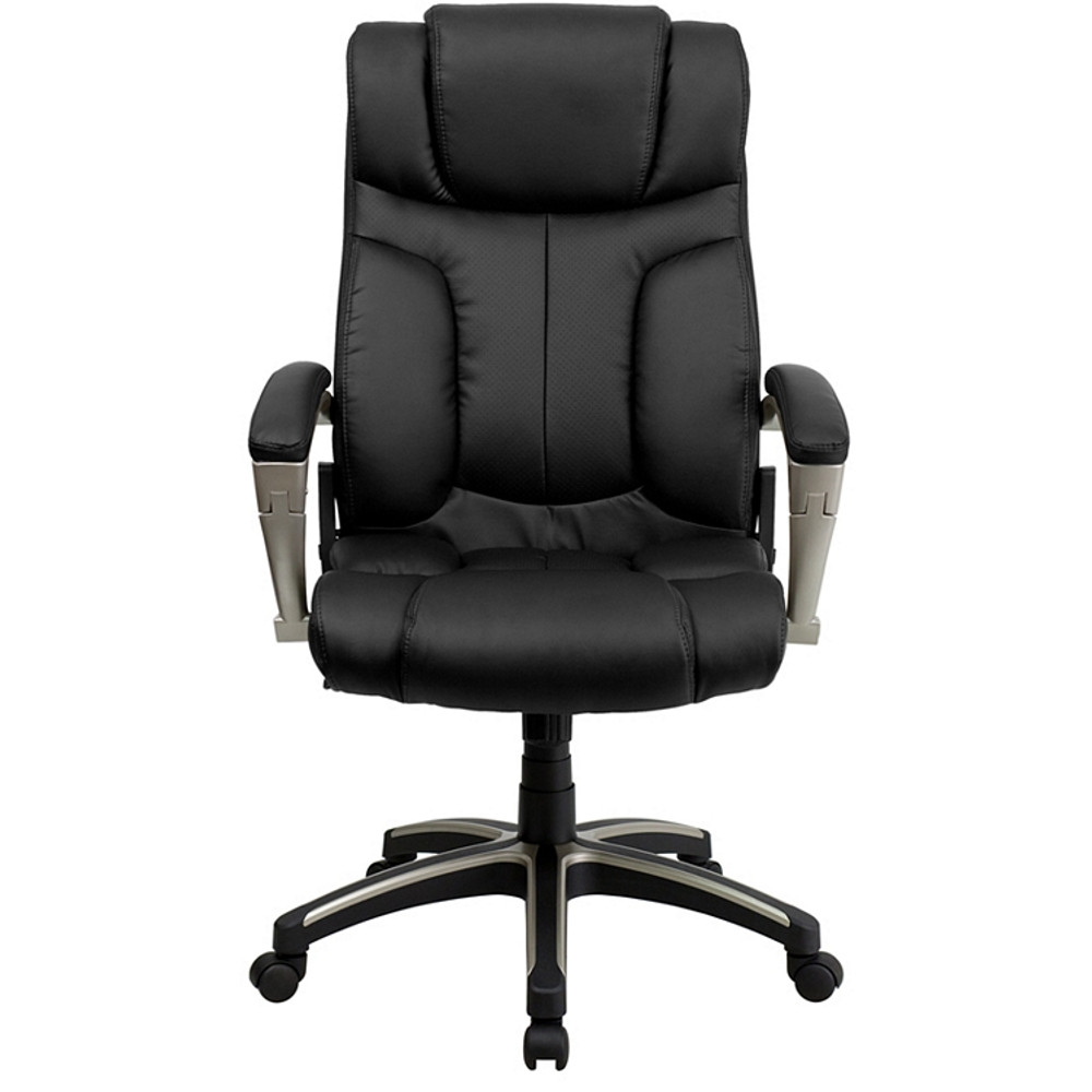 Outstanding Flash Furniture High Back Folding Black Leather Executive Swivel Chair With Arms Camellatalisay Diy Chair Ideas Camellatalisaycom
