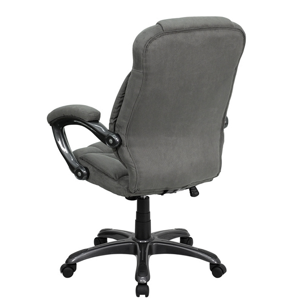 Excellent Flash Furniture High Back Gray Microfiber Contemporary Executive Swivel Chair With Arms Pdpeps Interior Chair Design Pdpepsorg