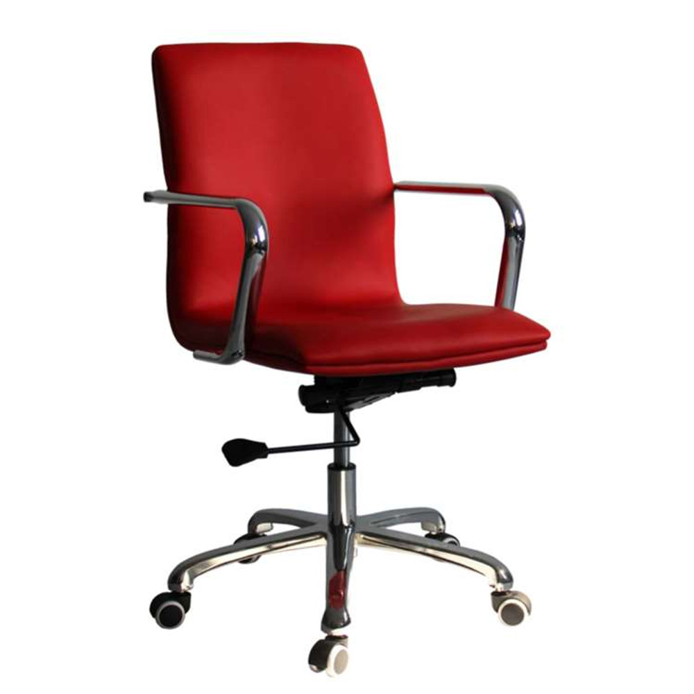 Confreto Conference Office Chair Mid Back, Red by Fine Mod
