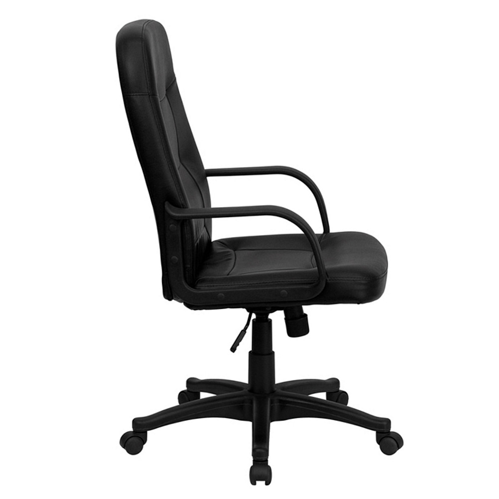 Flash Furniture High Back Black Glove Vinyl Executive Swivel Chair with Arms