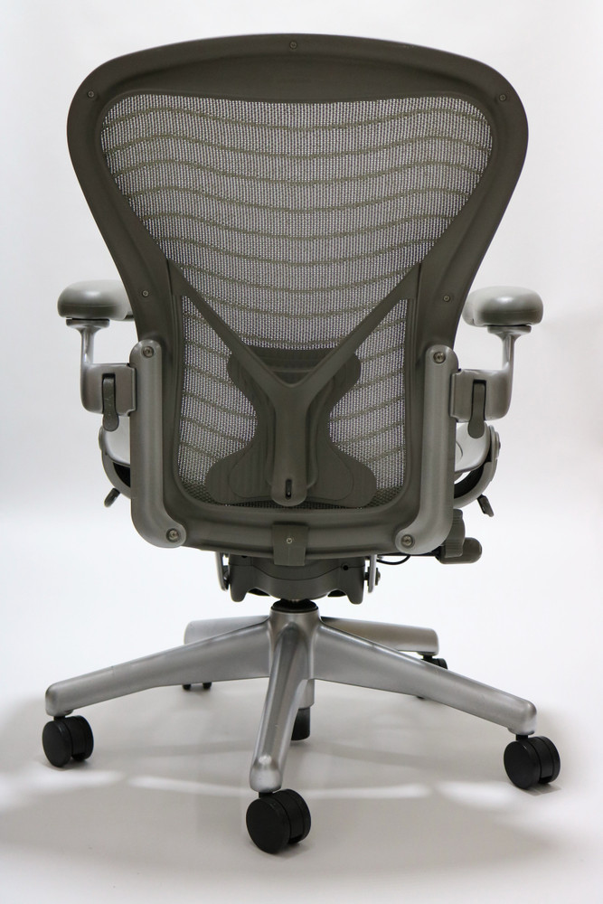 Herman Miller Aeron Chair Semi Loaded Size B Gray Wave With Posturefit
