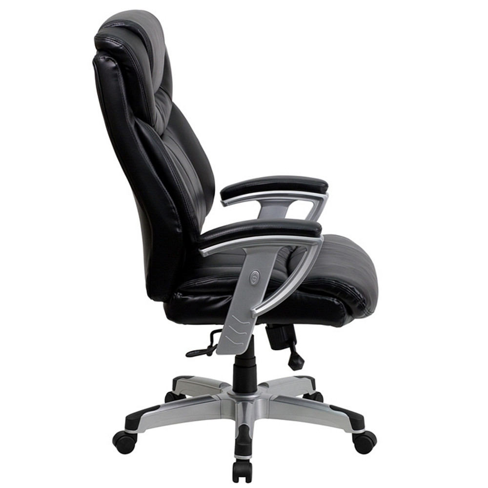 Flash Furniture HERCULES Series Big & Tall 400 lb  Rated Black Leather  Executive Swivel Chair with Adjustable Arms 1