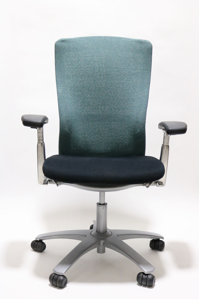 Knoll Life Chair Fully Adjustable Model Teal Fabric Back