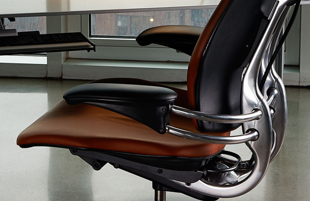 Humanscale  Freedom Chairs  - works with your body weight to let you move and recline the seat hands-free !