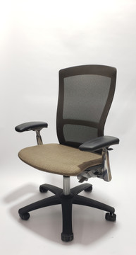 Knoll Life Chair Fully Adjustable Model Dark Brown Mesh